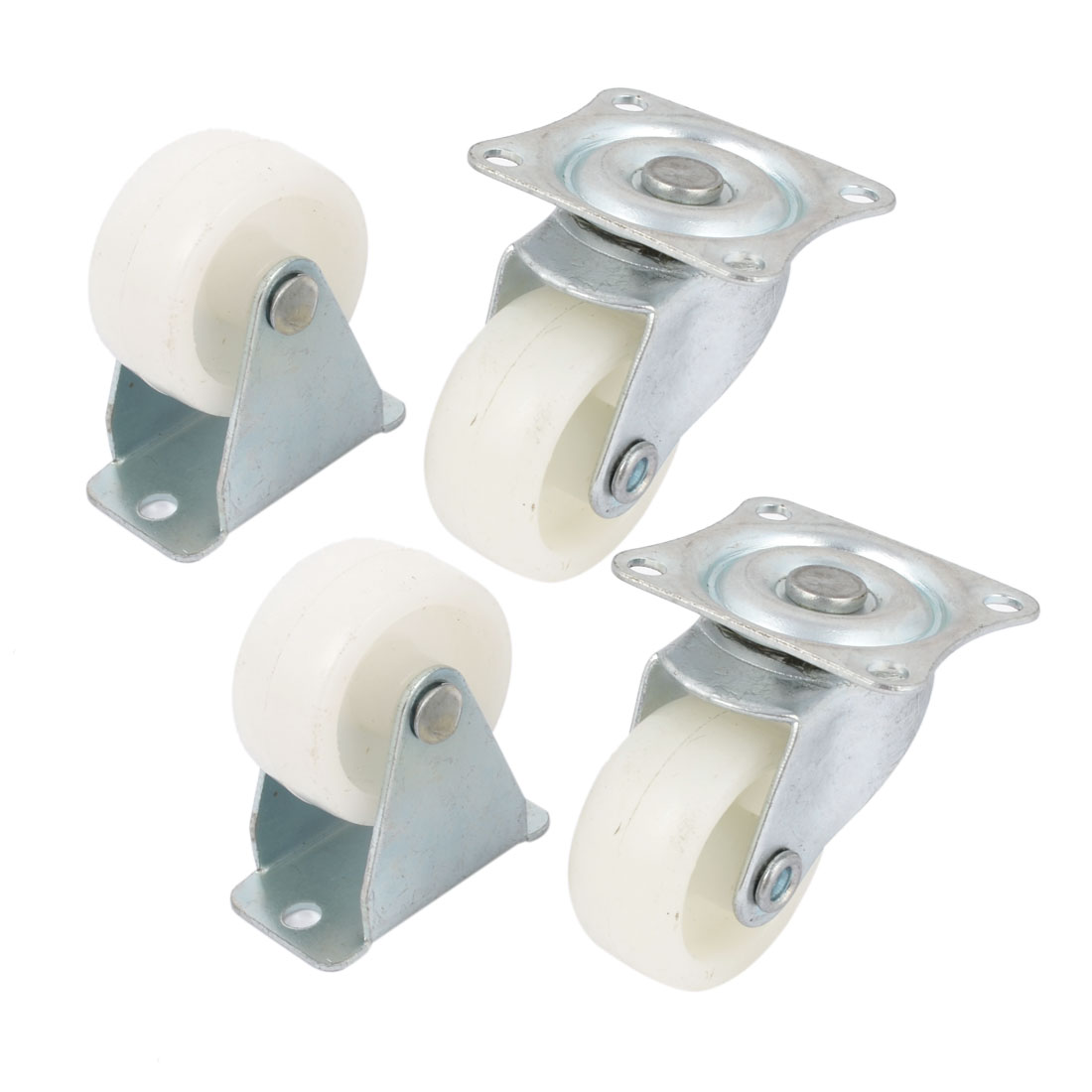 "4Pcs 1.2"" Dia Plastic Wheel Carts Roller Caster for Hand Trolley"