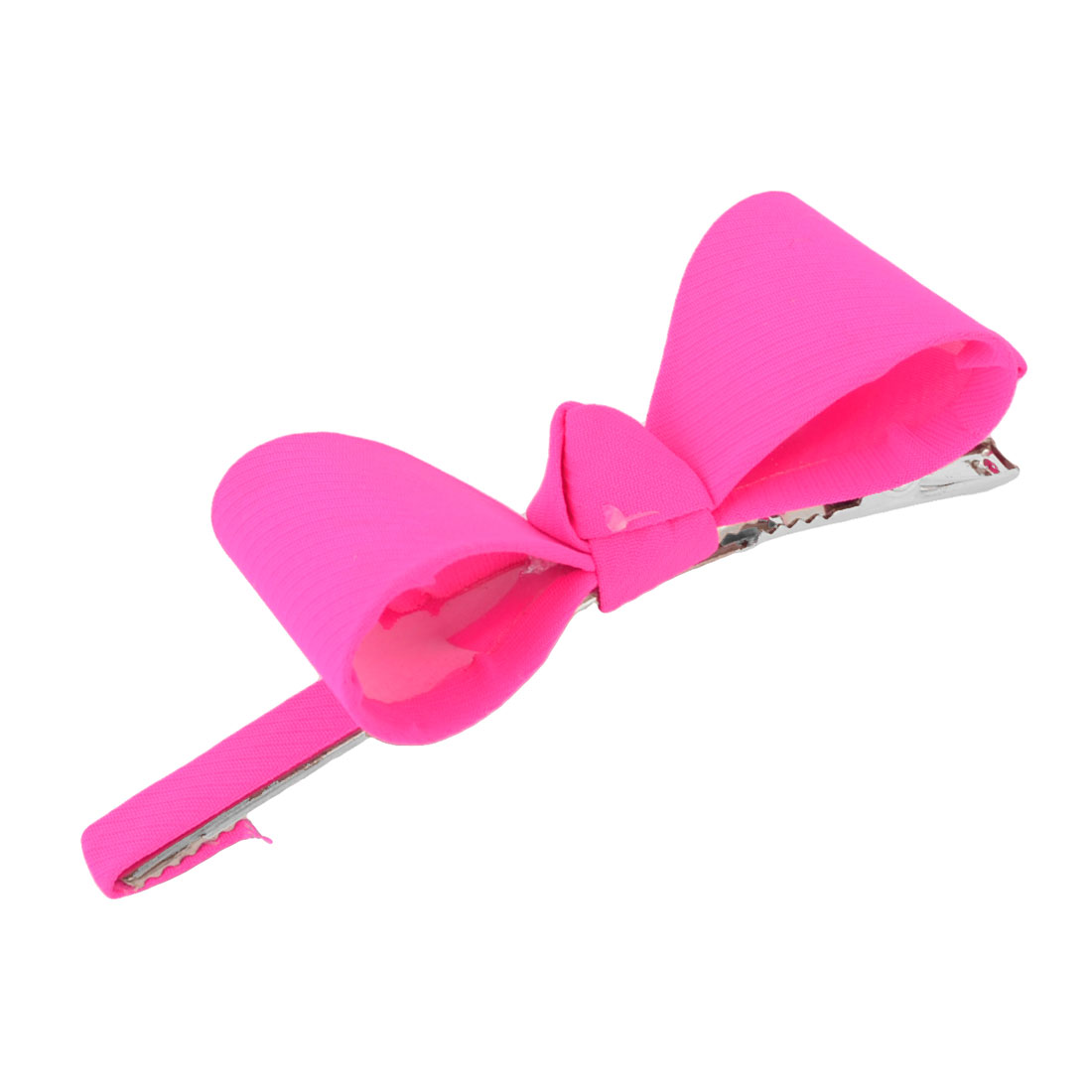 Lovely Fuchsia Bowknot Decor Alligator Hair Clip Barrette
