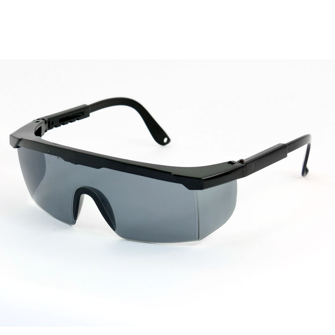 Black Plastic Adjustable Arms Half Frame Gray Uni-Lens Wrap Around Protective Safety Welding Glasses
