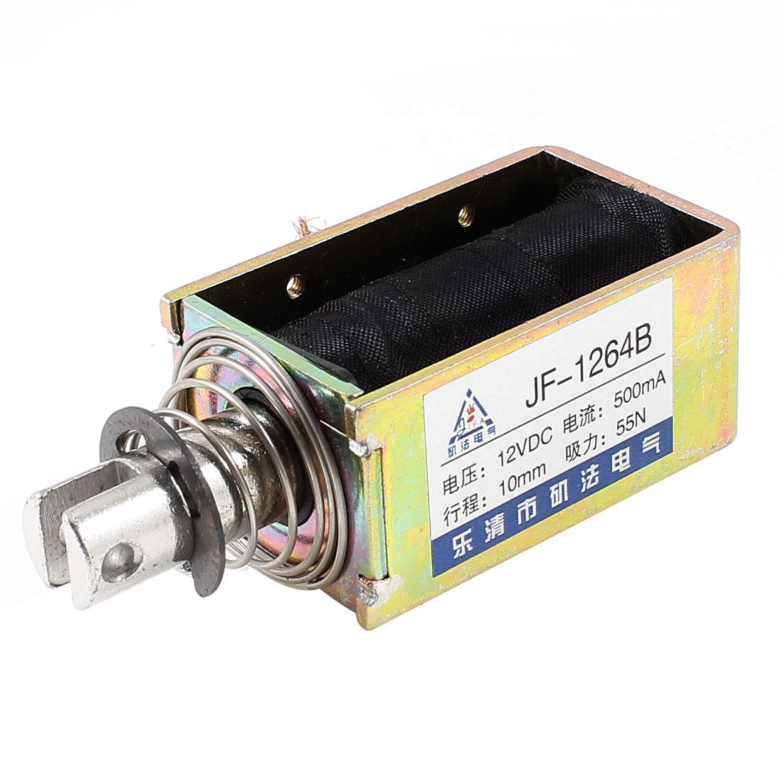10mm Stroke 5.5Kg Force Push Pull Open Frame Solenoid Electromagnet DC 12V 0.5A