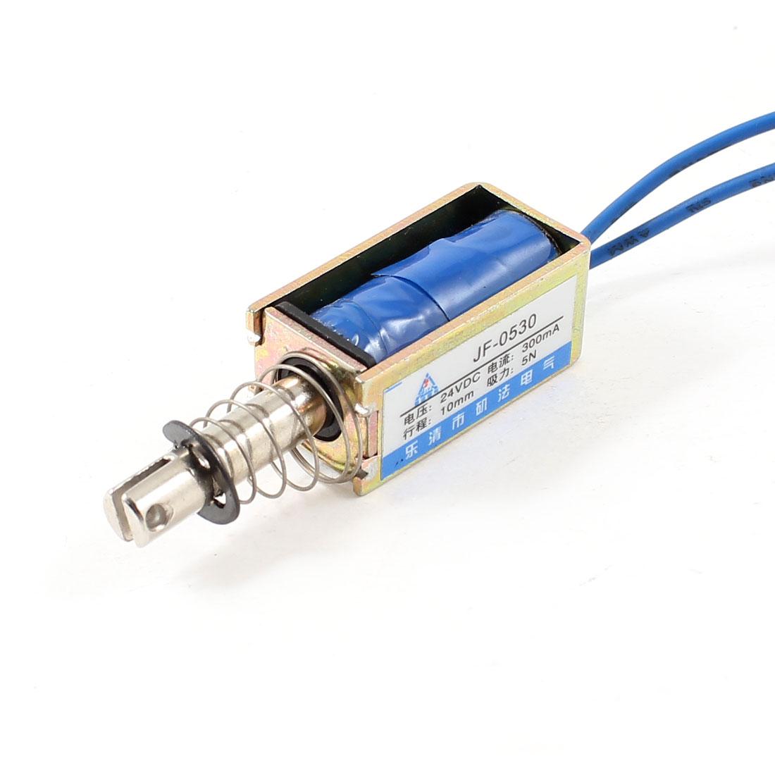 10mm Stroke 0.5Kg Force Pull Type Open Frame Solenoid Electromagnet DC 24V 0.3A