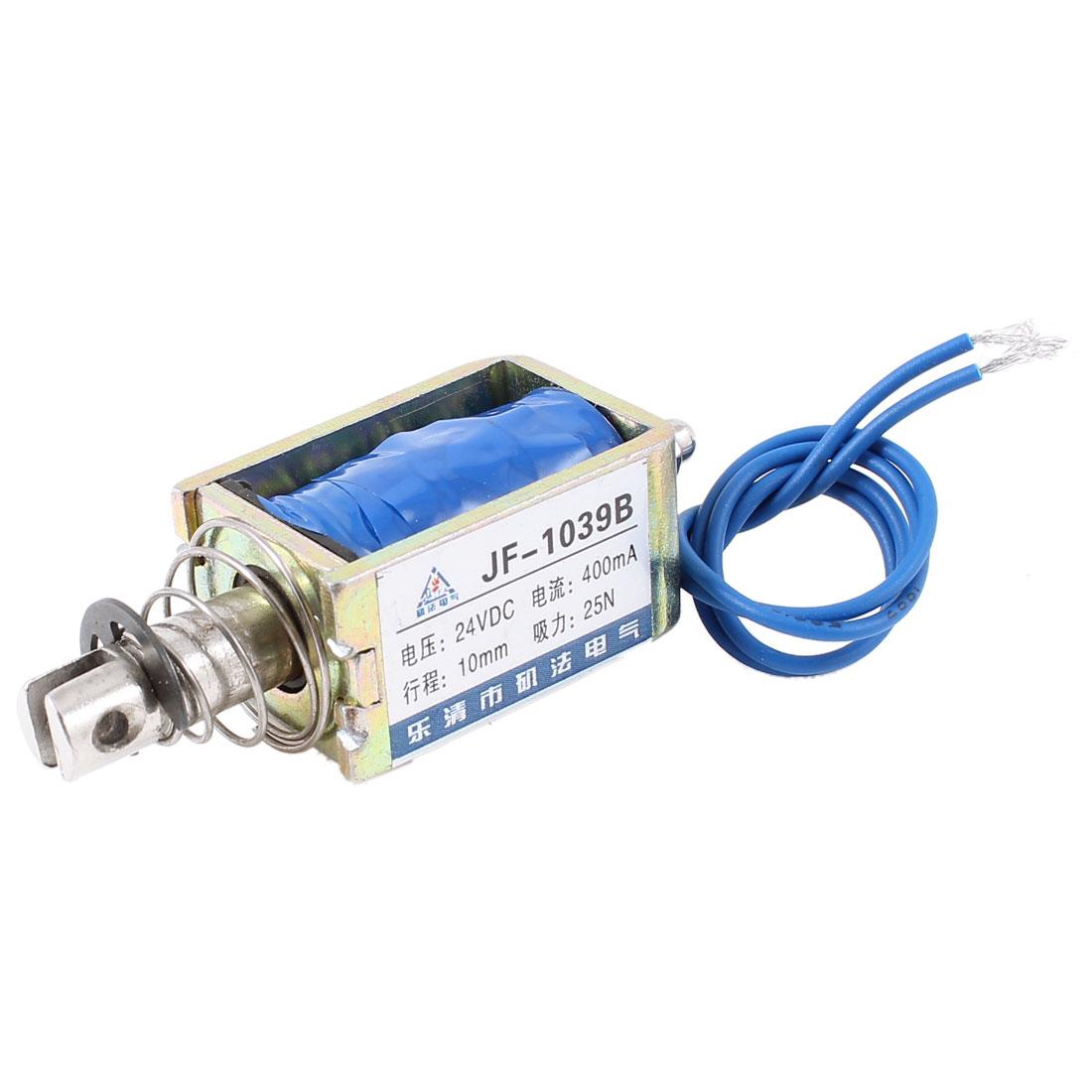 10mm Stroke 2.5Kg Force Push Pull Open Frame Solenoid Electromagnet DC 24V 0.4A
