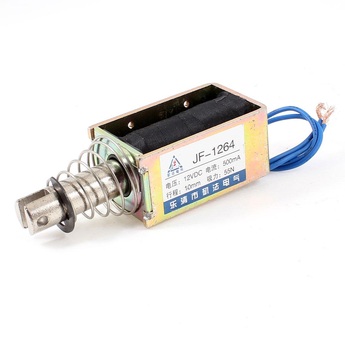 10mm Stroke 5.5Kg Force Pull Type Open Frame Solenoid Electromagnet DC 12V 0.5A