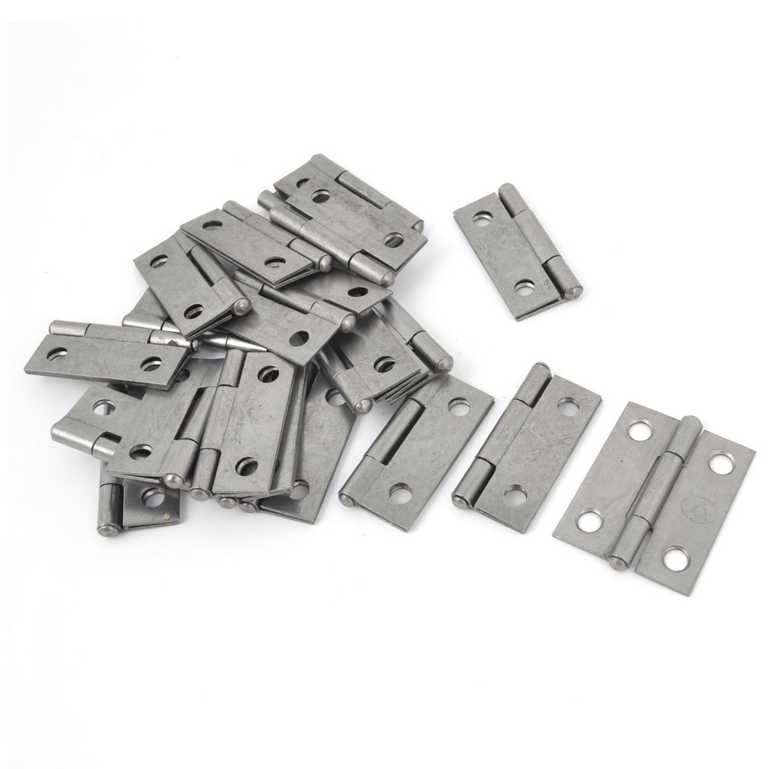 "20 Pcs Metal Foldable Rotating Closet Cupboard Cabinet Door Hinge 1.5"" Long"