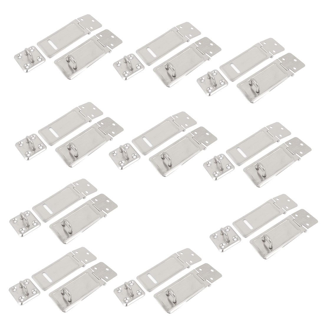 "20Pcs 3"" x 1.2"" Silver Tone Stainless Steel Replacement Saftey Desk Cabinet Lock Door Hasp Staple"