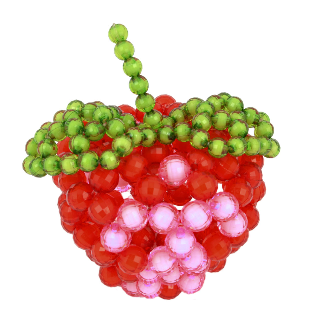 Manmade Red Crafted Fruit Apple Design Faux Crystal Beads Desk Table Decoration