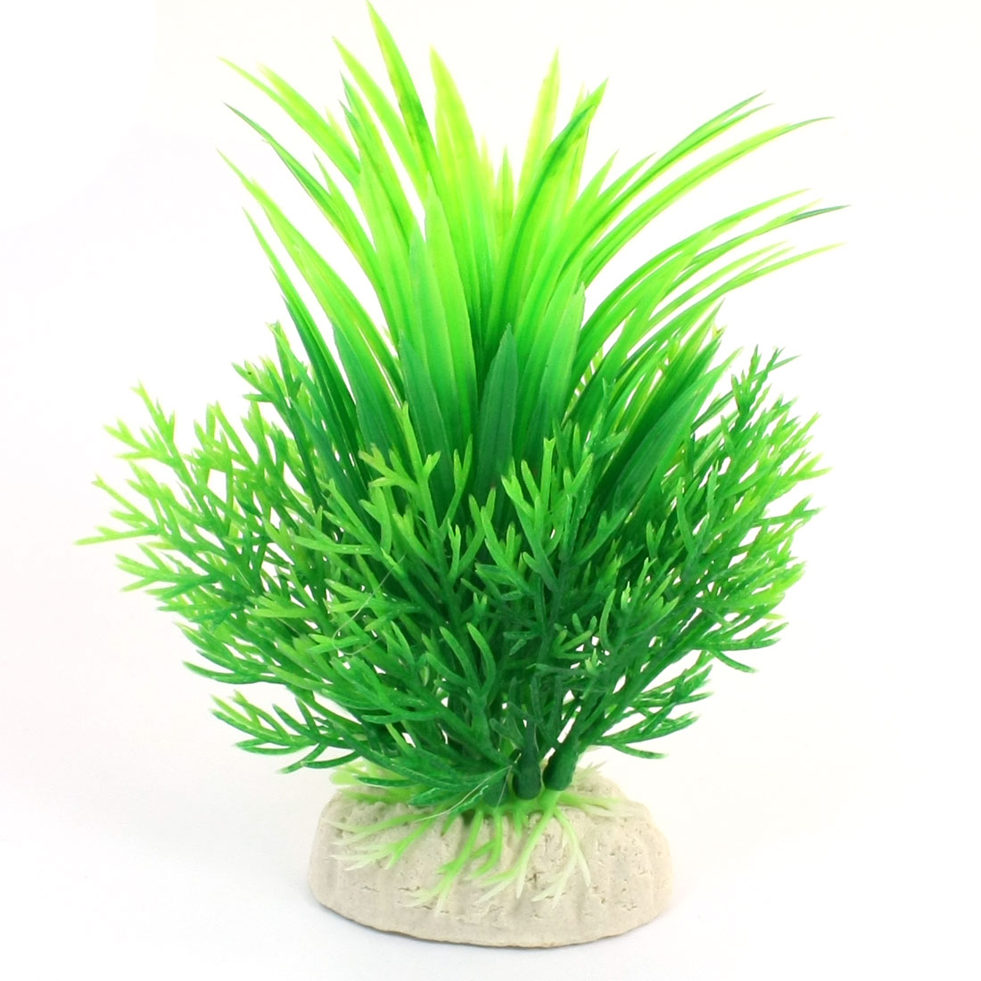 "Aquarium Fish Tank Landscaping Artificial Emulational Underwater Water Plant Grass Decor Green 5.7"" Height"