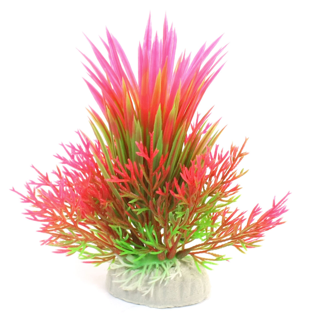 "Aquarium Fish Tank Landscaping Artificial Emulational Underwater Water Plant Grass Detail Green Fuchsia 6"" Height"