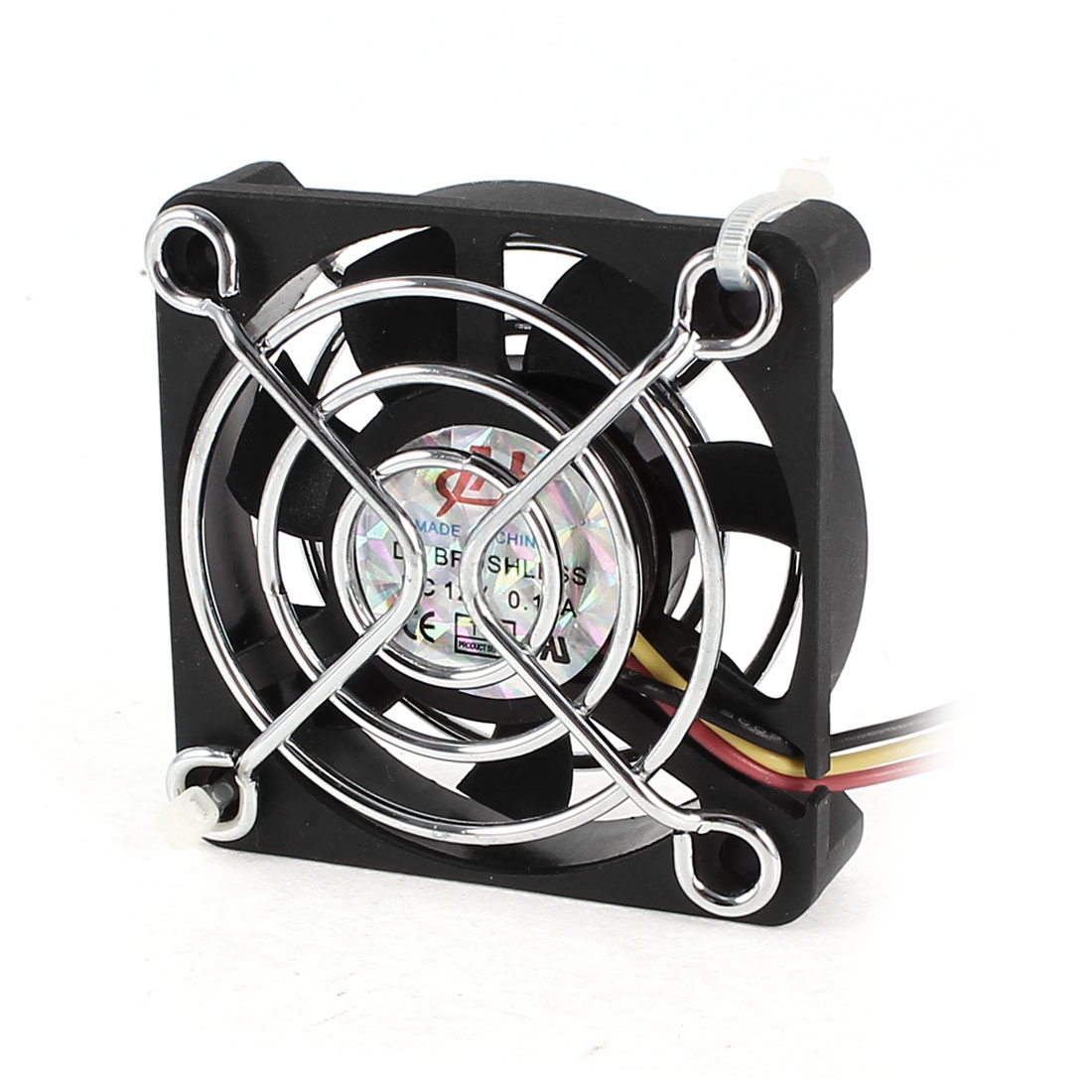 DC 12V 0.1A Metal Grill 50mmx10mm Cooling Fan Cooler Black for Computer Case