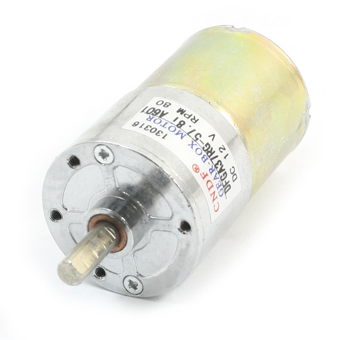 DC 12V 80RPM Metal Shell Electric Tool Spare Parts DC Gear Box Motor
