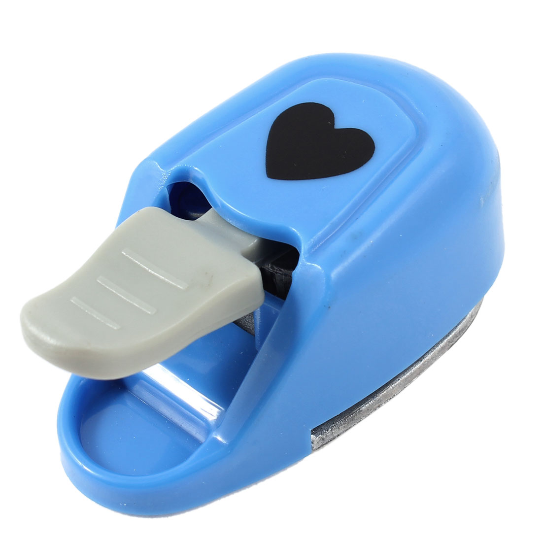 Blue Plastic Coated Heart Pattern Cutout Paper Shaper Card Making Craft Punch Punching Tool