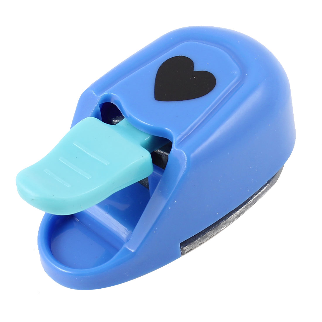 Dark Blue Plastic Coated Heart Pattern Cutout Paper Shaper Card Making Craft Punch Punching Tool