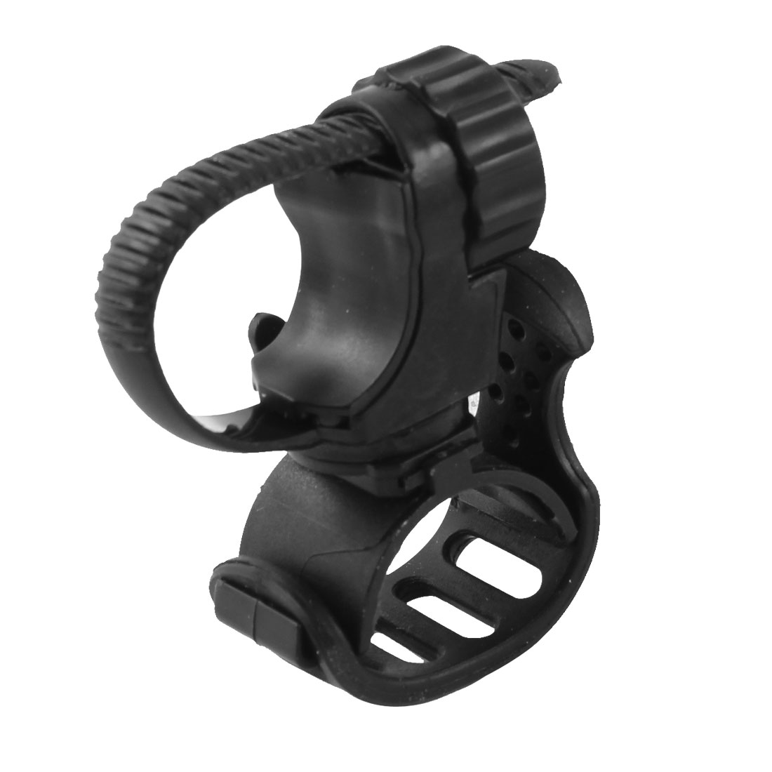 Bicycle Bike LED Flashlight Adjustable Handle Bar Mount Holder Clamp Clip Grip Bracket Black