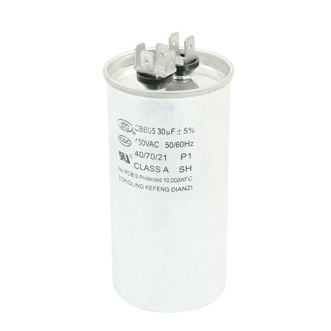AC 450V 30uF 5% 50/60Hz 6 Terminals Cylinder Shaped Air Conditioner Motor Run Capacitor CBB65