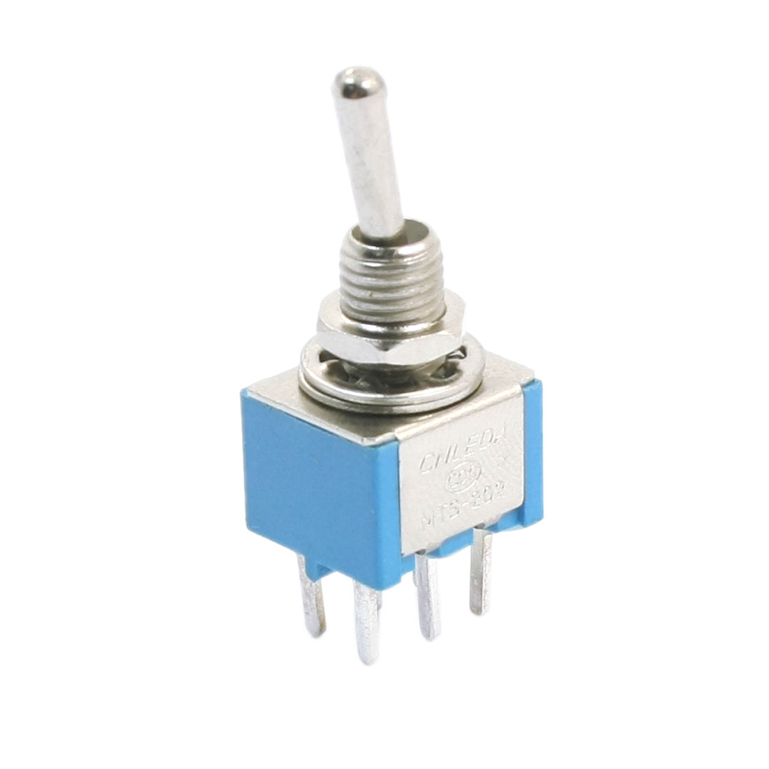 6mm Panel Mounted 6 Pin ON/OFF/ON DPDT Toggle Switch AC 125V 6A Blue