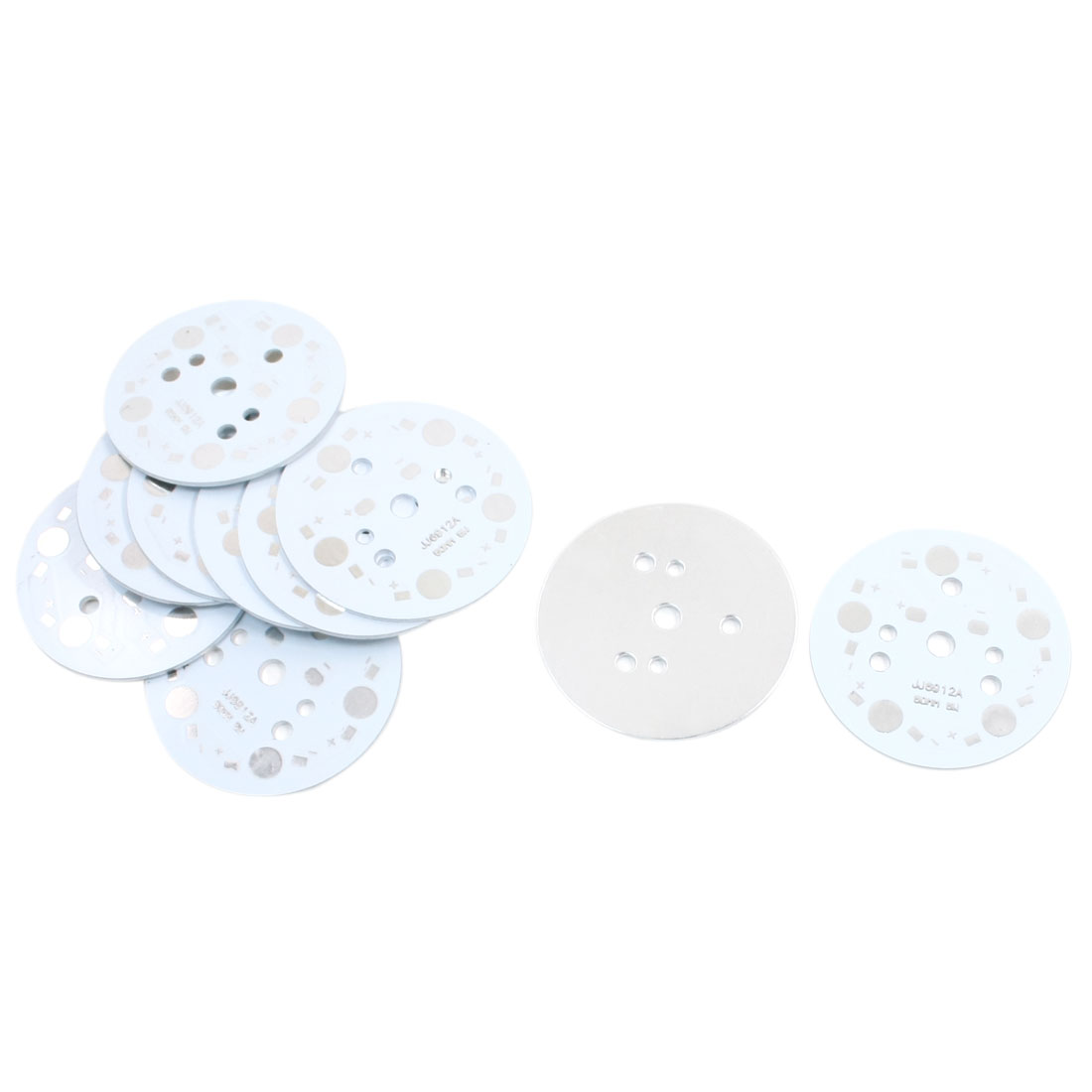 10Pcs Aluminum Base Plate DIY PCB 49mm Dia for 5 x 1W 3W 5W LEDs in Series