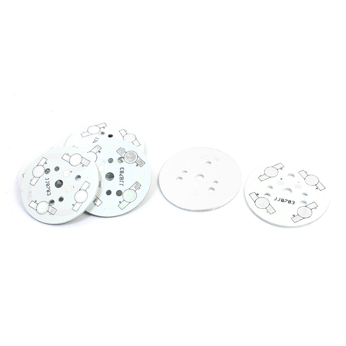 10pcs 49mm Dia Round Aluminum PCB Circuit Board for 4 x 1W/3W/5W LED