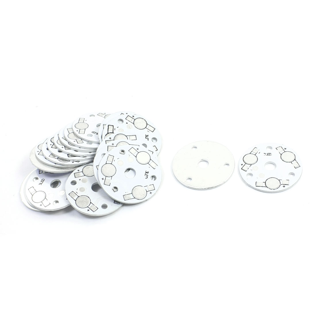 20pcs 35mm 3 x 1W/3W/5W LED Round Aluminum PCB Circuit Board Base Plate