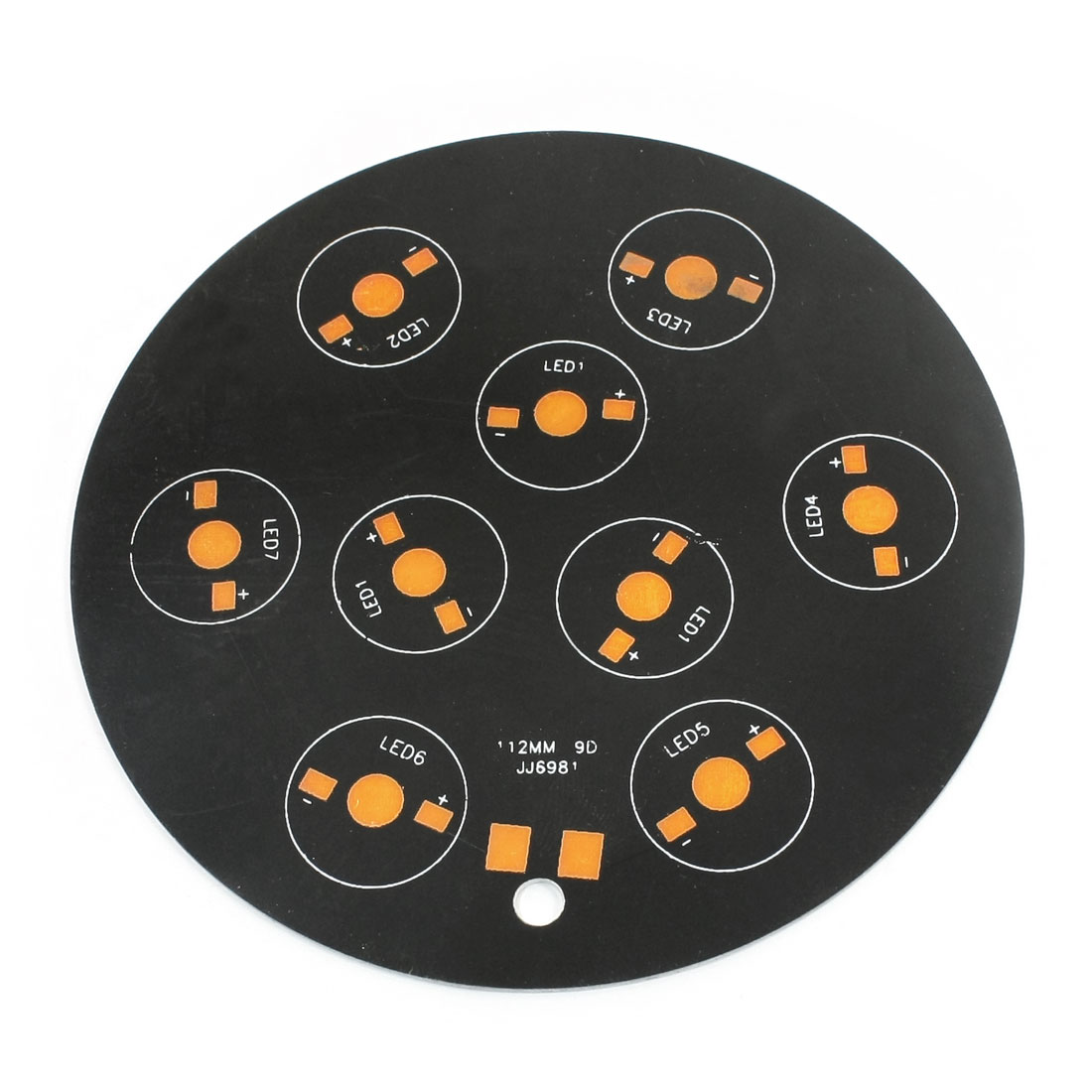 112mm Dia 9 x 1W/3W/5W LED Round Aluminum PCB Circuit Board Base Plate