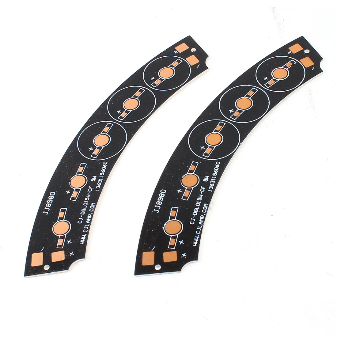2Pcs Aluminum PCB Circuit Board 145mmx25mm for 5 x 1W/3W/5W LEDs Series