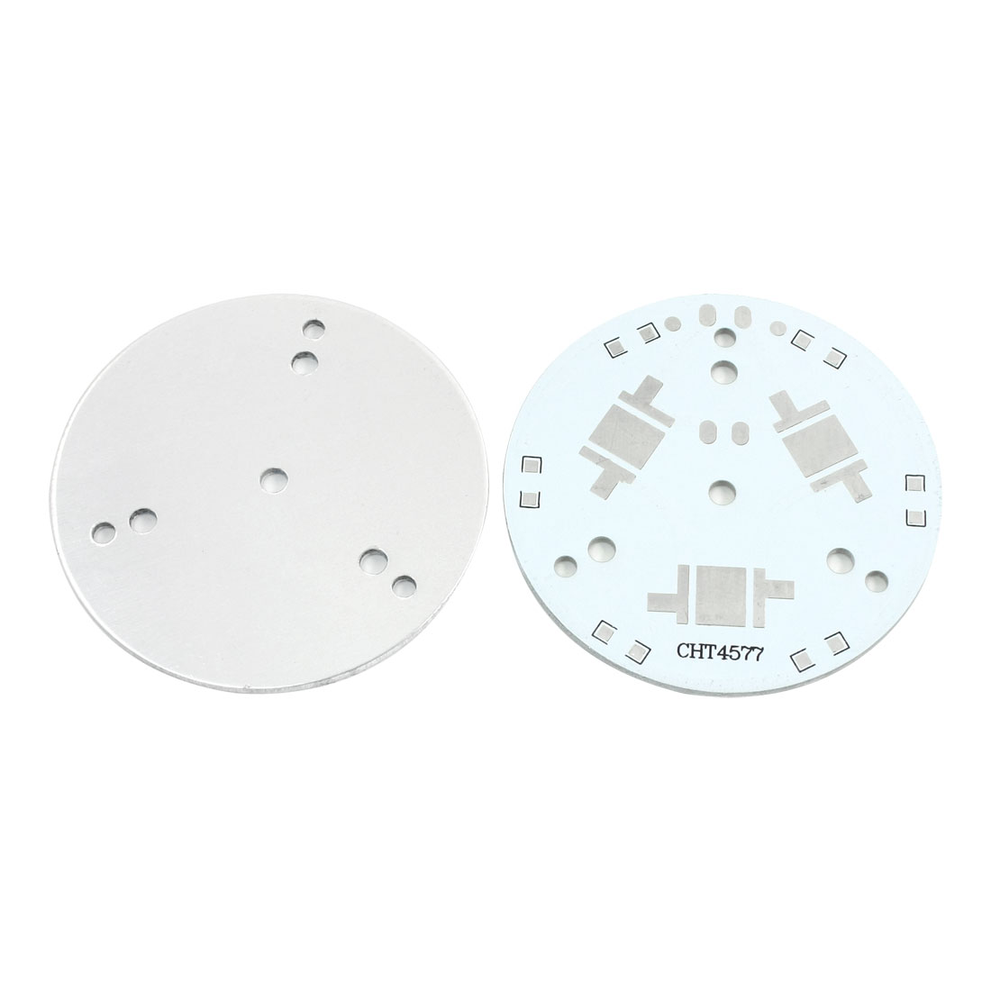 2pcs 49mm 3 x 1W 3W 5W High Power LED Aluminum PCB Printed Circuit Board