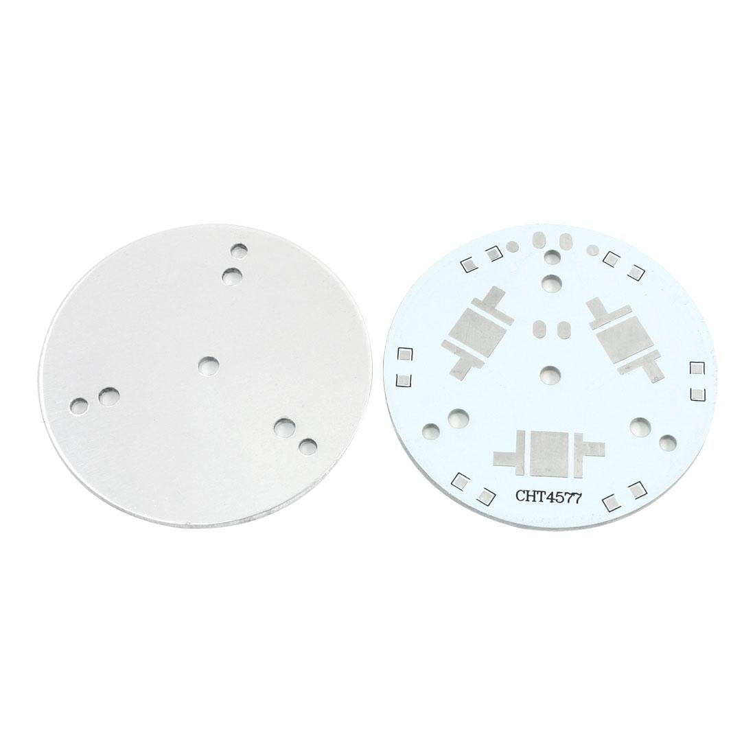 2pcs 49mm 3 x 1W 3W 5W High Power LED Aluminum PCB Printed Circuit Board