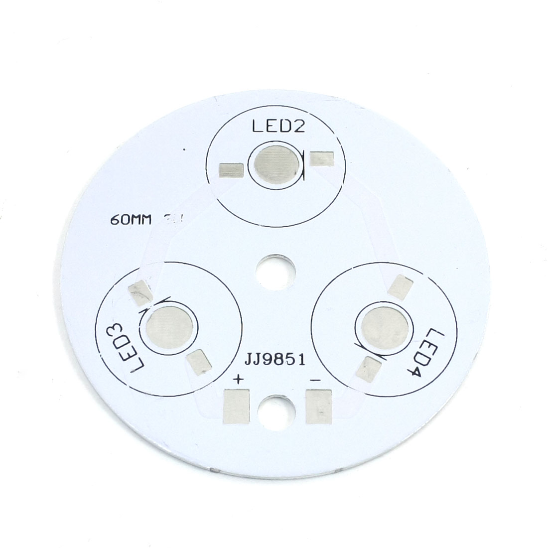 LED Aluminum PCB Circuit Board 60mm for 3 x 1W/3W/5W LEDs in Series