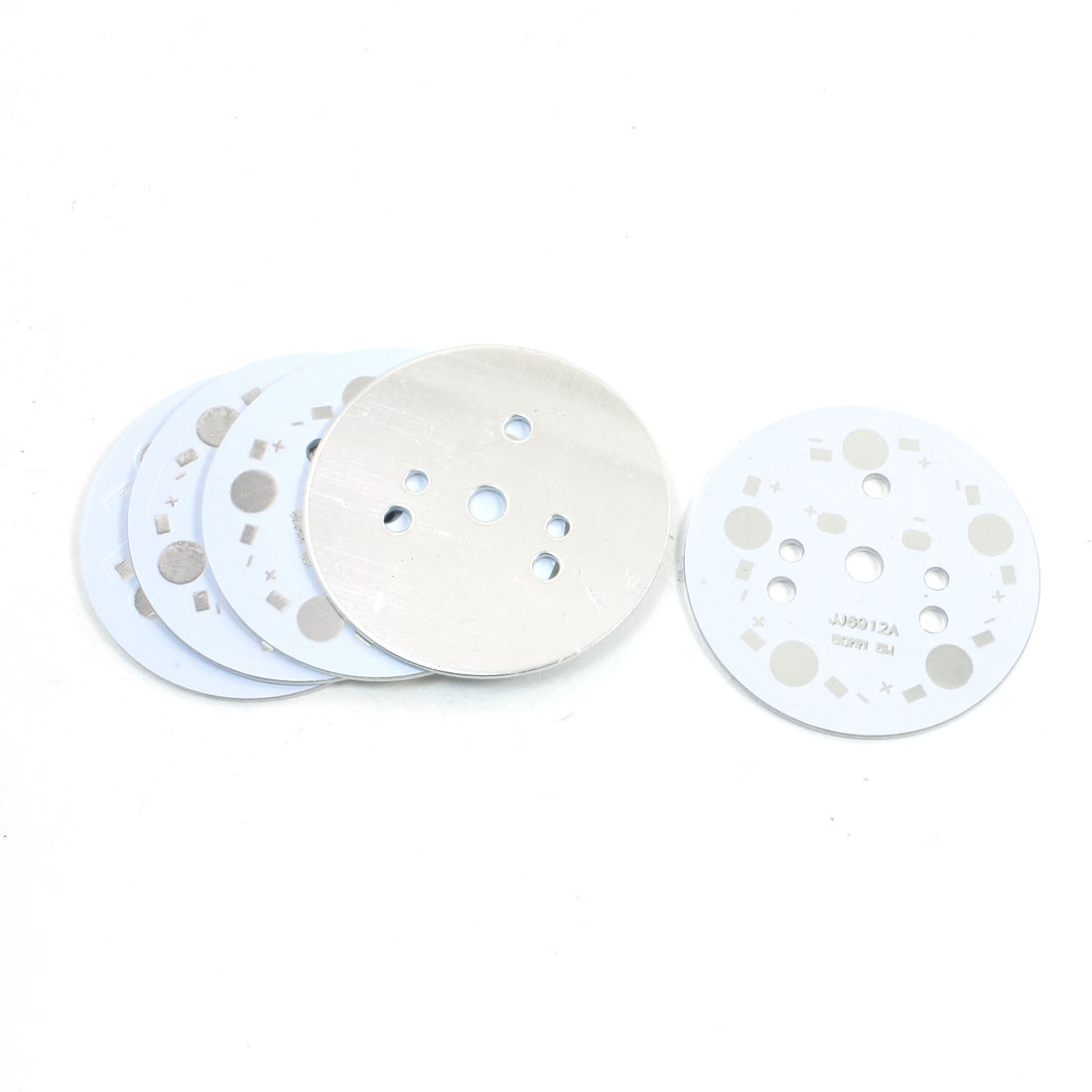 5Pcs Aluminum PCB Printed Circuit Board 49mm for 5 x 1W/3W/5W LEDs Series
