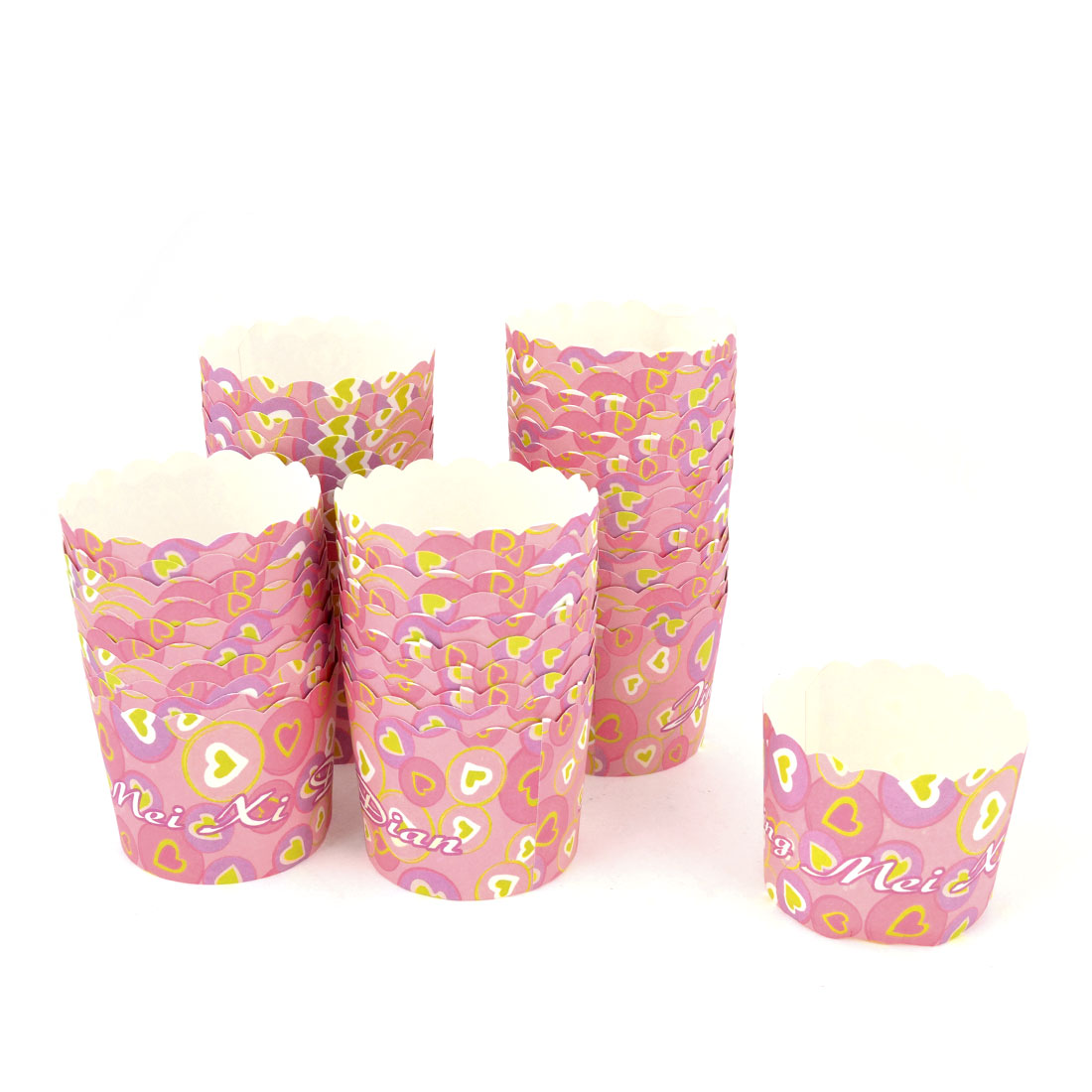 60mm Dia Muffin Cake Baking Paper Cup Tray Party Wedding Ice Cream Tool 50 Pcs