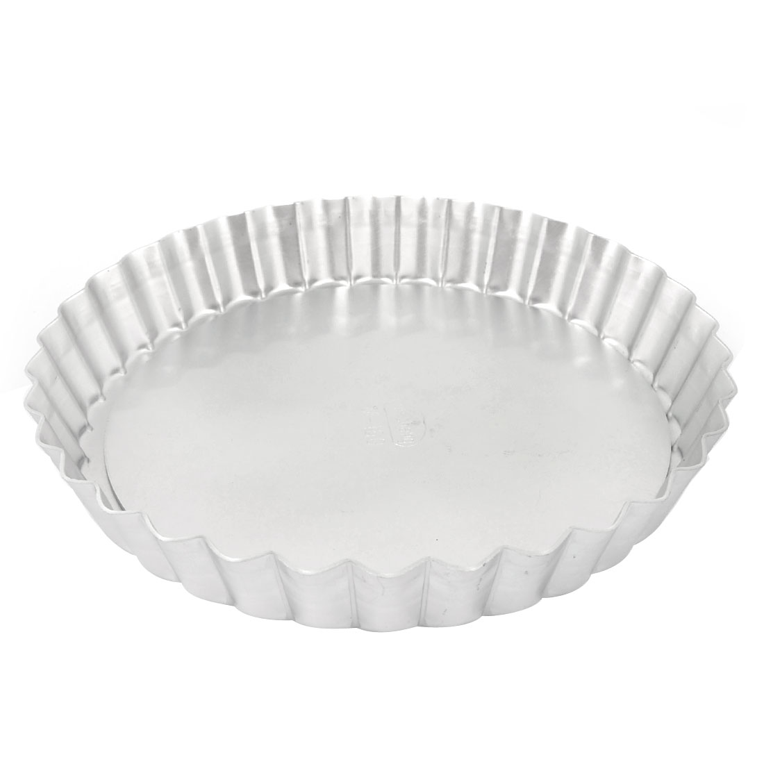 "Christmas DIY Cake Maker Round Shape Flower Rim Silver Tone Alloy Cook Tool Pan Mold Mould 6"" Dia"