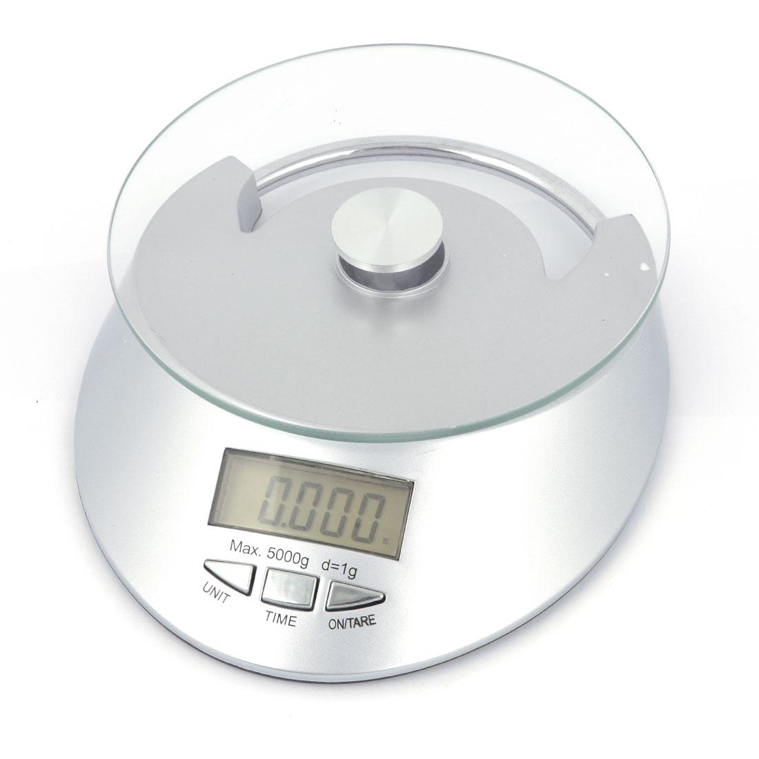 3Kg x 1g Kitchen Digital Electronic Weight Scale Kg oz lb g Silver Tone