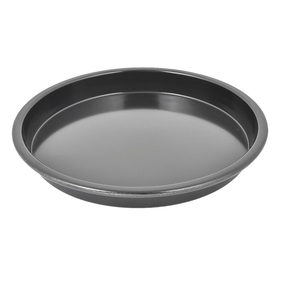 "Pastry Cookie Baking Tool Round Shape Nonstick Steel Pizza Pan Tray Black 8"" Dia"