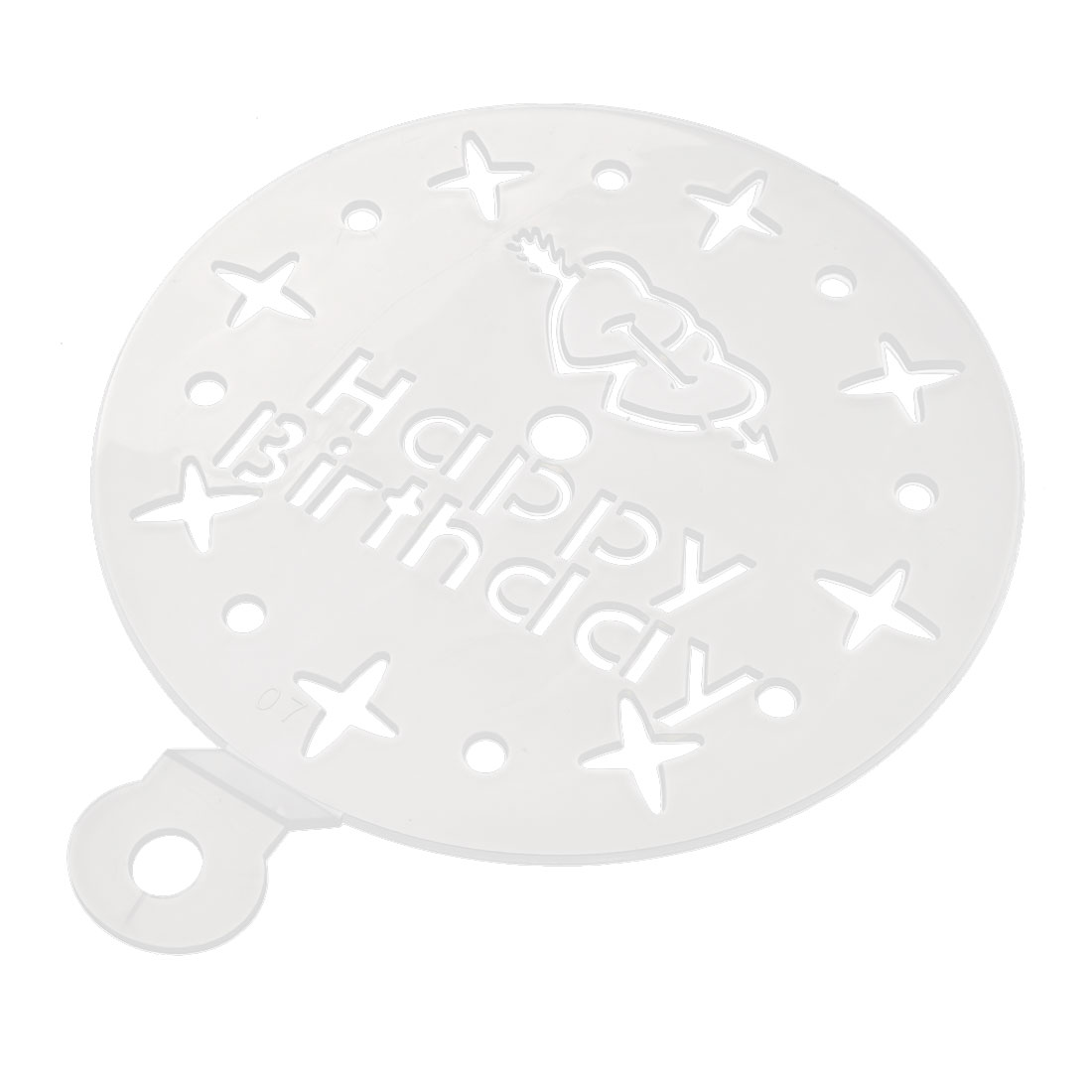 Happy Birthday Heart Star Hollow Out Cake Sugar Fondant Cutter Decorating Mold Mould 15cm