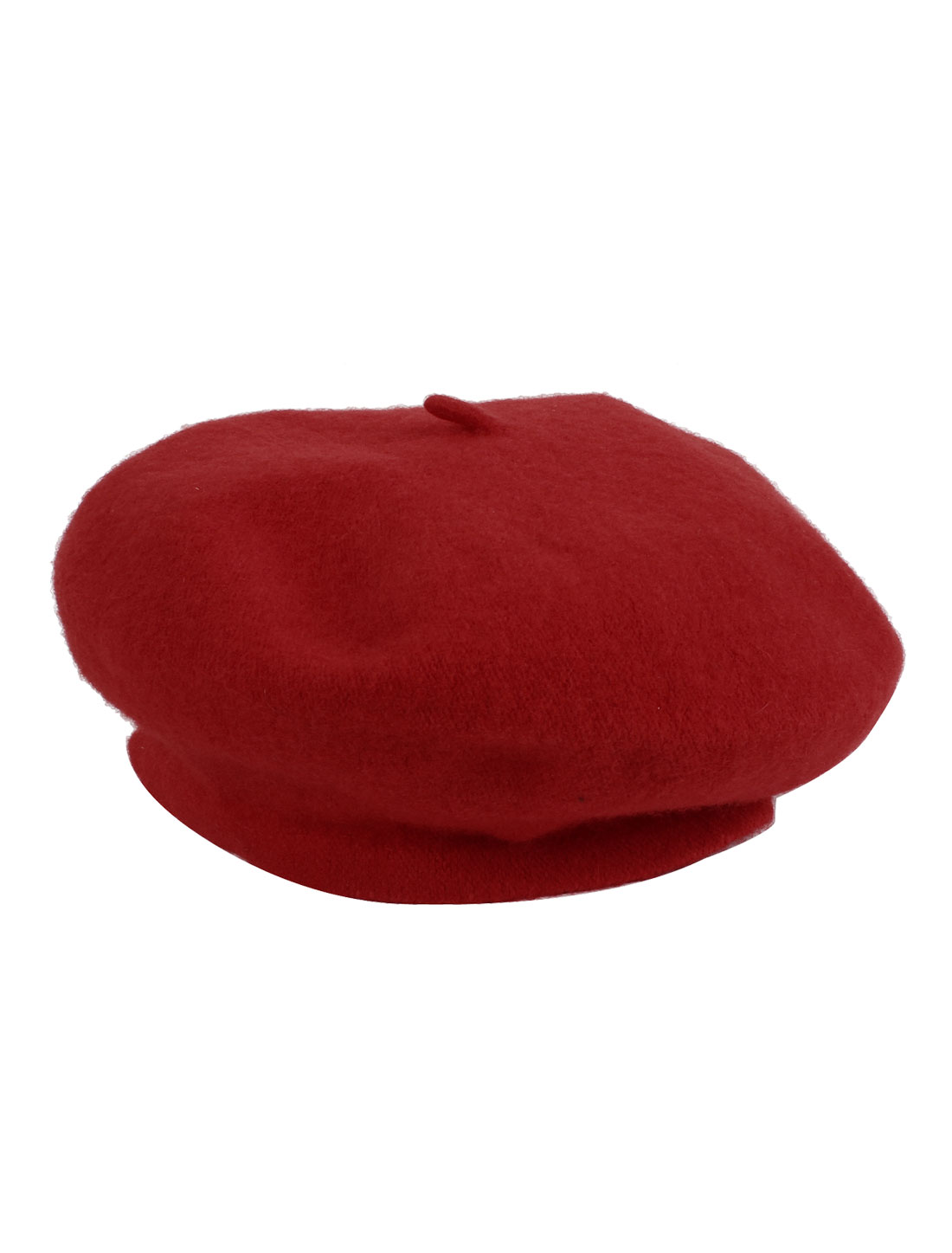 Red Knitting Winter Warmer Acrylic Beret Beanie Hat Cap for Lady