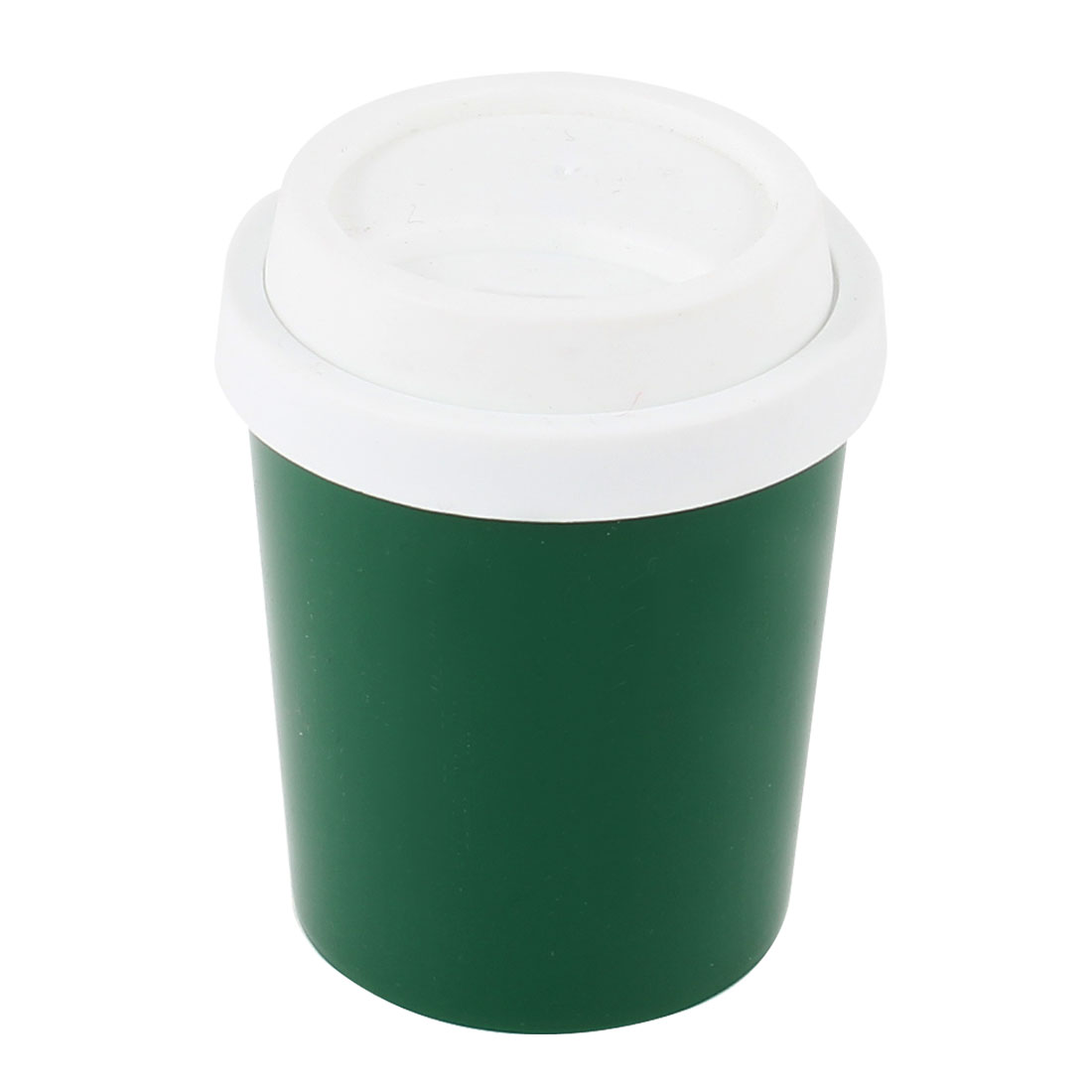 Home Desk Coffee Cup Shape Plastic Case Box Toothpick Holder White Green