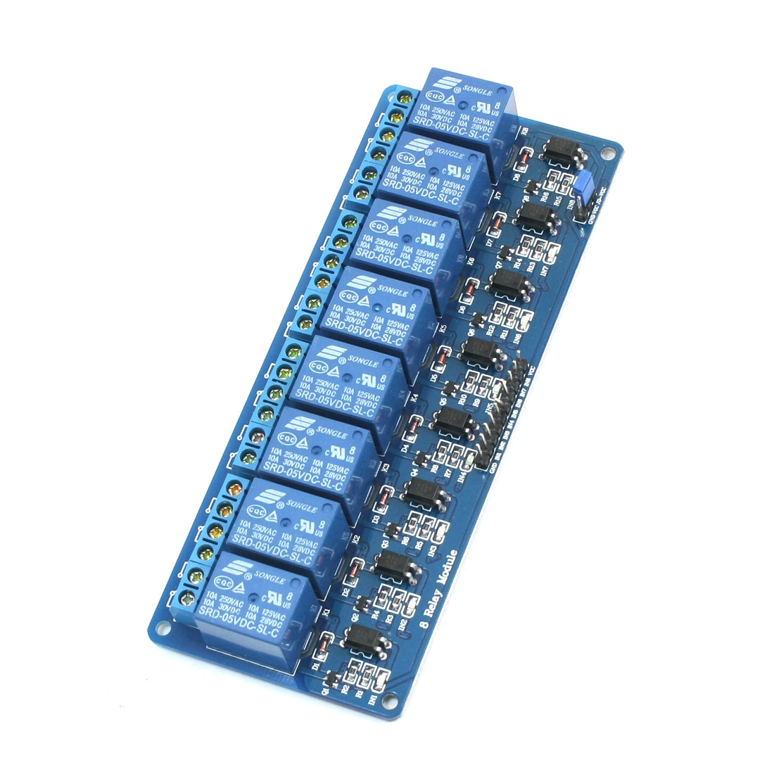 Optocoupler Driver Low Level Trigger Relay Module 8-Channel DC 5V