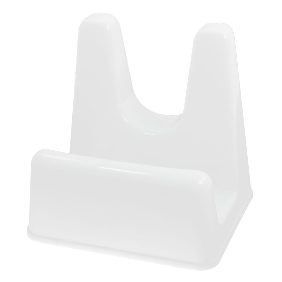 Household Kitchen Cooking Plastic Ladle Stand Shelf Rack Pan Pot Lid Cover Holder White