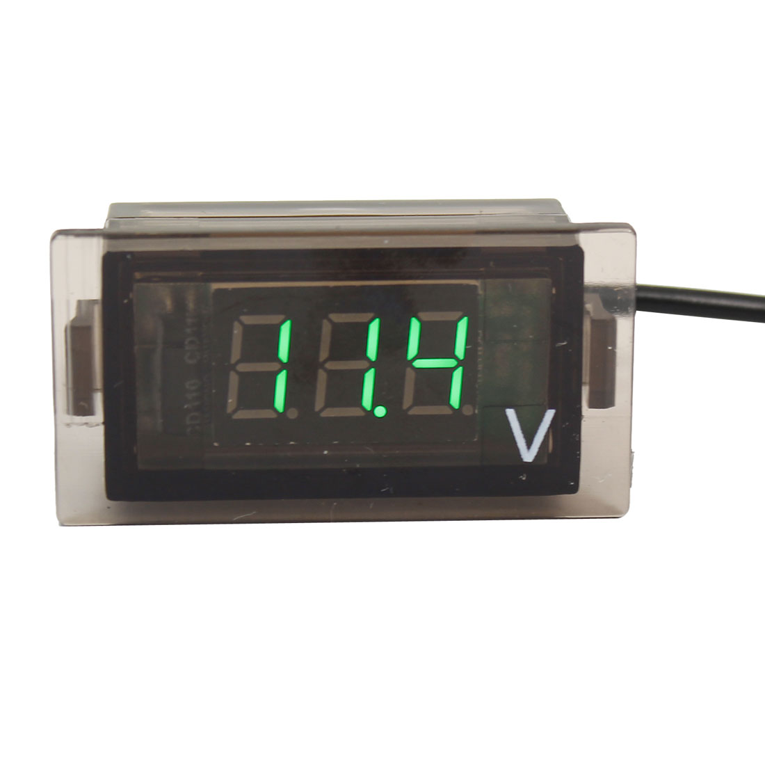 3 Number Green LED Digital Voltmeter Meter Gauge DC 3.5-30V for Motorcycle