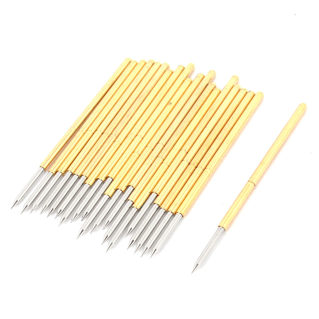 20 Pcs P100-B1 1.5mm Concave Round Tip 33.3mm Length Test Probes Pin