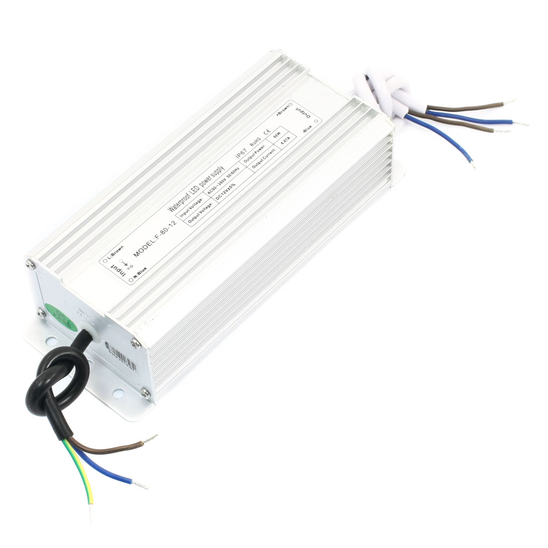 AC 90-260V Waterproof Power Supply Driver for DC 12V 80W LED Light