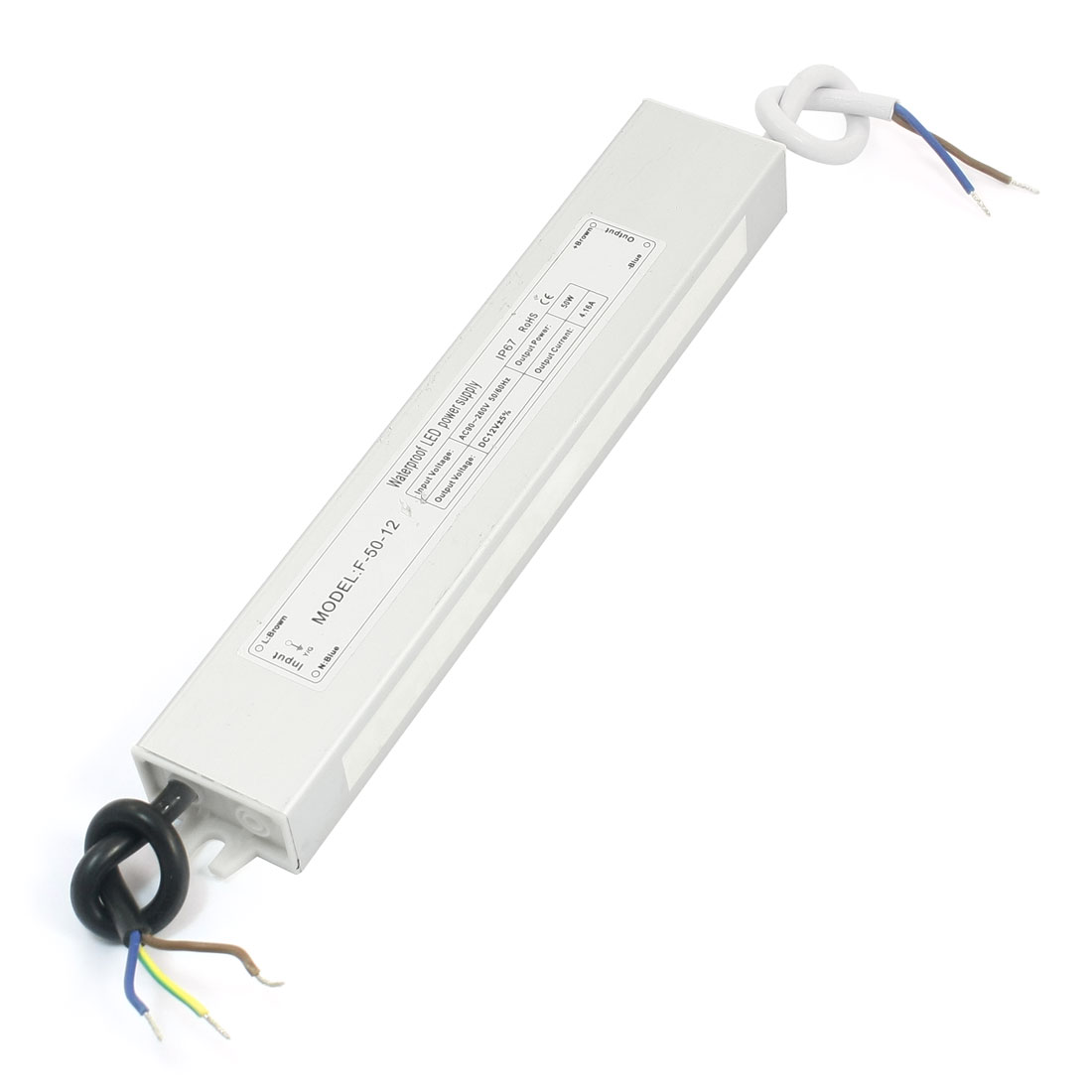 50W LED Strip Light Lamp Power Supply Driver IP67 AC 90-260V 50/60HZ
