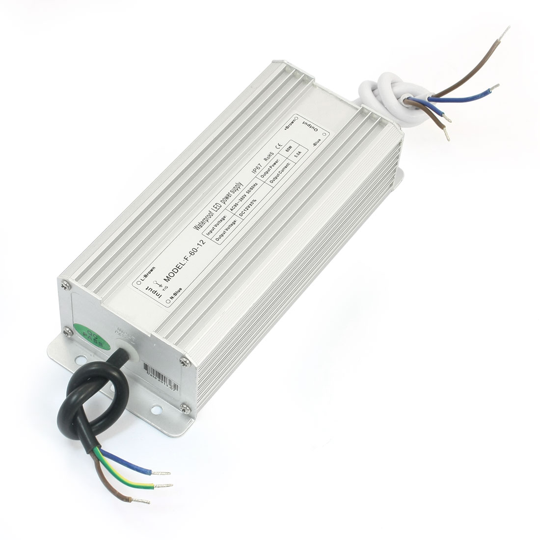 AC 90-260V Waterproof Power Supply Driver for DC 12V 60W LED Light