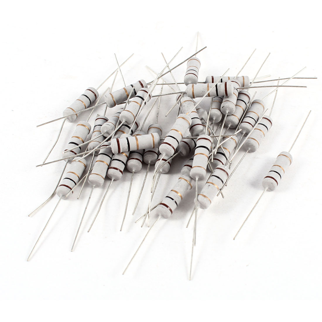 30 Pcs 2W Watt 1 Ohm 5% Tolerance Axial Lead Carbon Film Resistors
