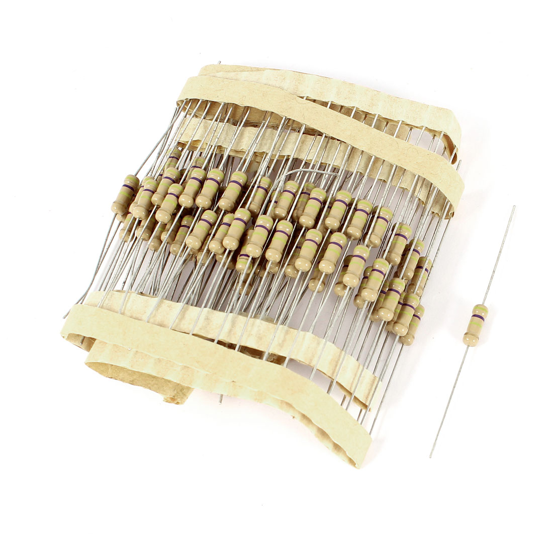 95 Pcs 1/2W 470K Ohm 5% Tolerance Axial Lead Colored Ring Carbon Film Resistors