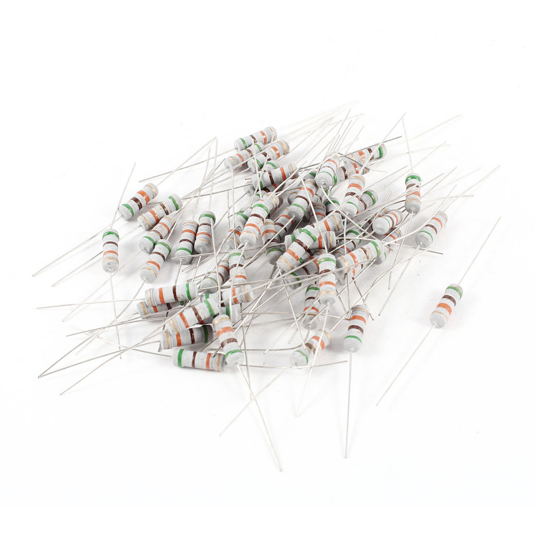 60 Pcs Through Hole Axial Lead Carbon Film Resistor 51K Ohm 5% 1 Watt