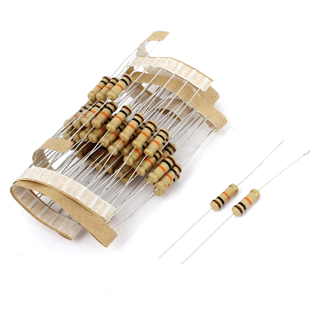 60 Pcs 4 Bands 1W Watt 10K Ohm 5% Axial Lead Carbon Film Resistors