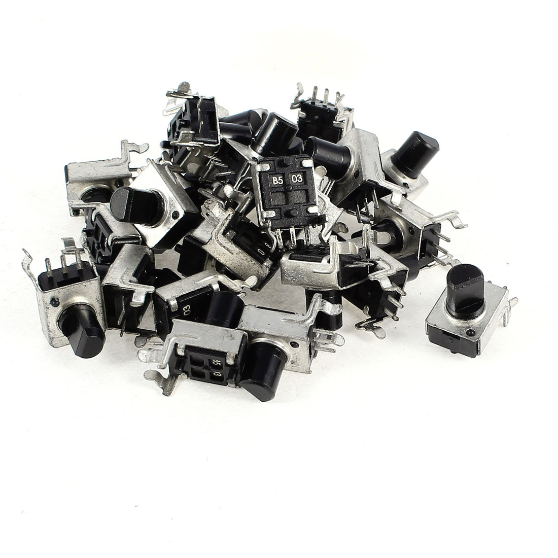 25 Pcs 7mm D Shaft 50K Ohm 3 Terminals Single Linear Rotary Taper Potentiometers