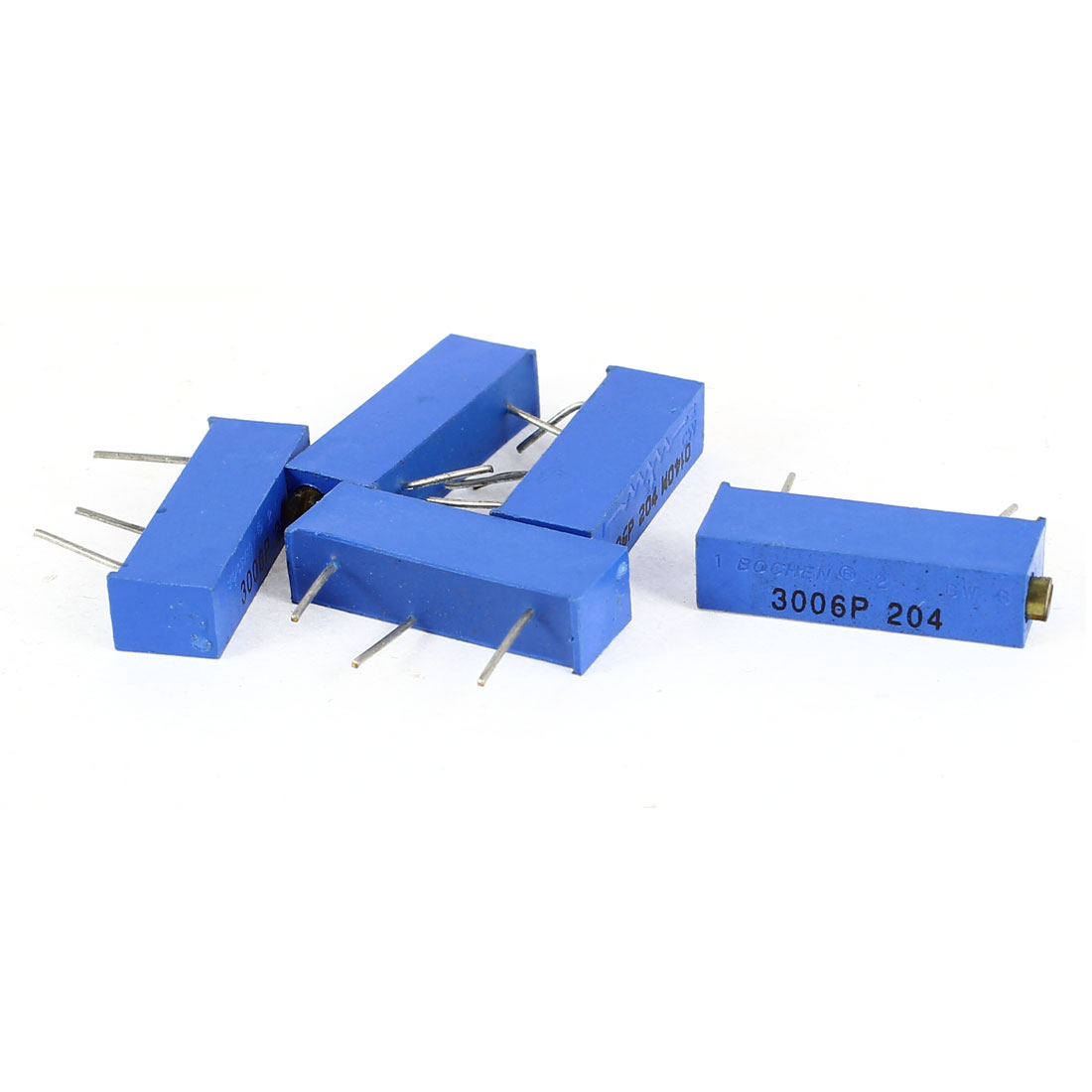3006P-204 Precision Trimpot 200K Ohm Multiturn Variable Resistor Blue 5 Pcs