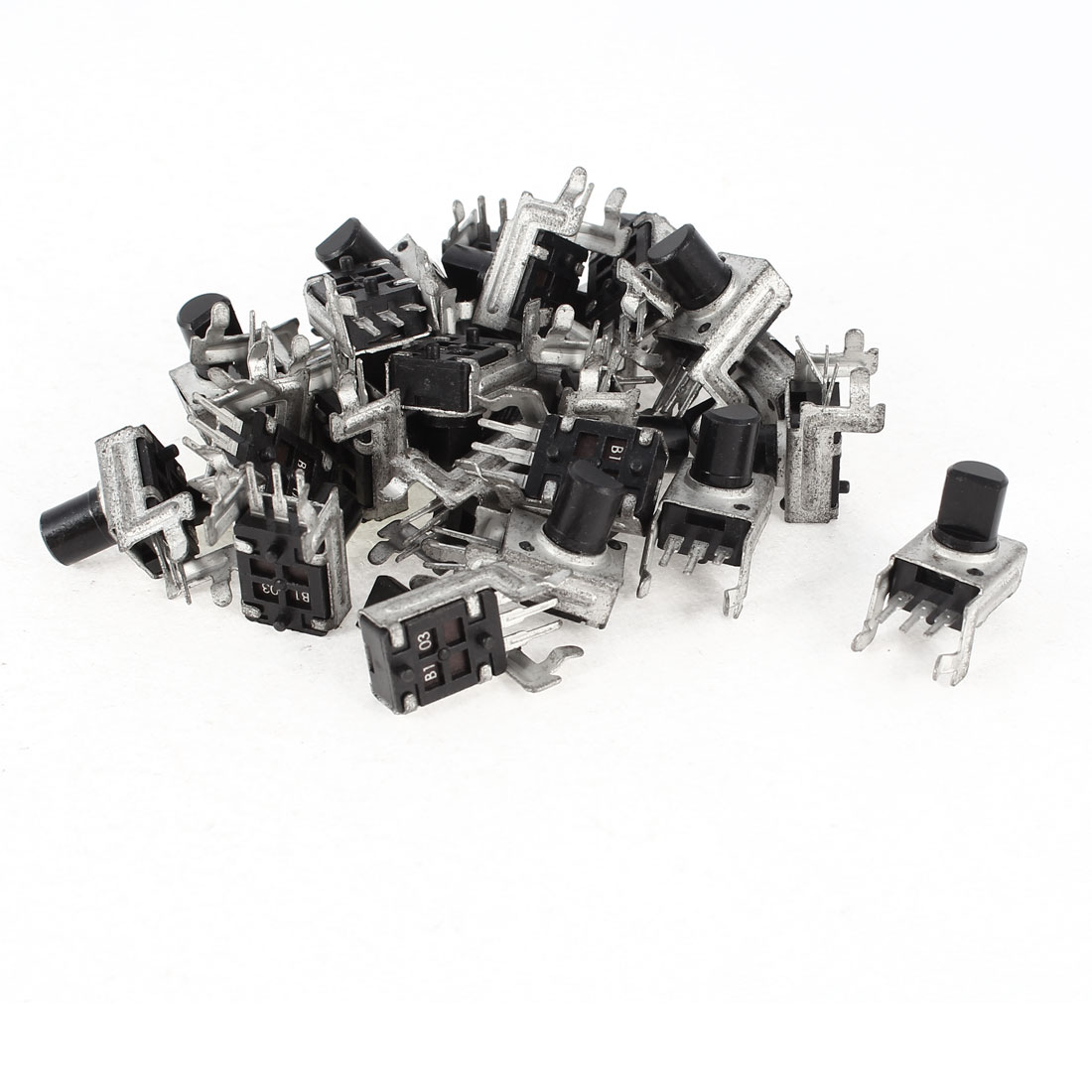 25 Pcs 7mm D Shaft 10K Ohm 3 Terminals Single Linear Rotary Taper Potentiometers