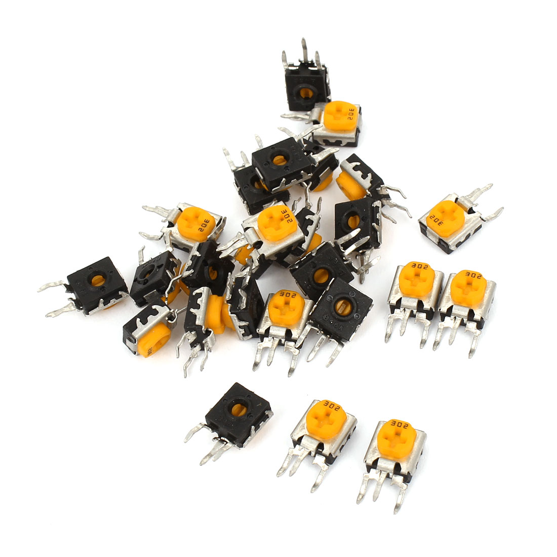 26pcs Variable Resistors Trimmer Potentiometers 302 3K Ohm 0.25W